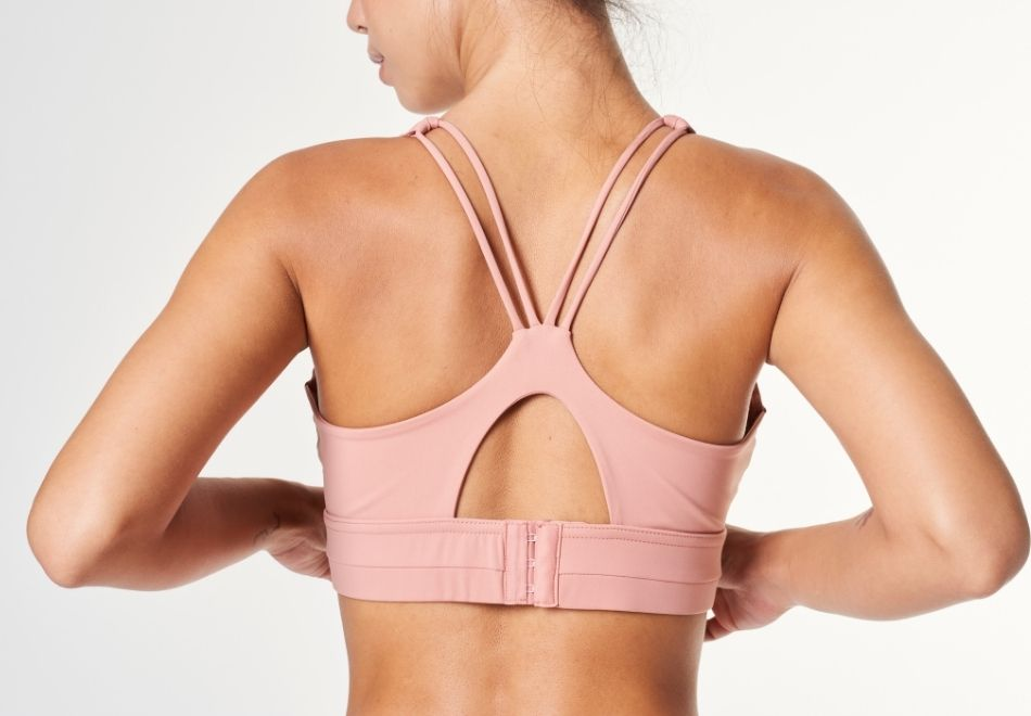 sportswear pink yoga top clothes workout